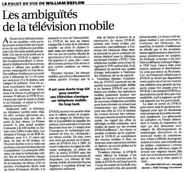 Les ambiguïtés de la télévision mobile