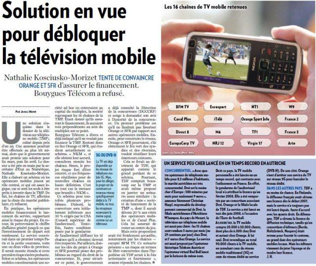 Solution en vue pour débloquer la télévision mobile