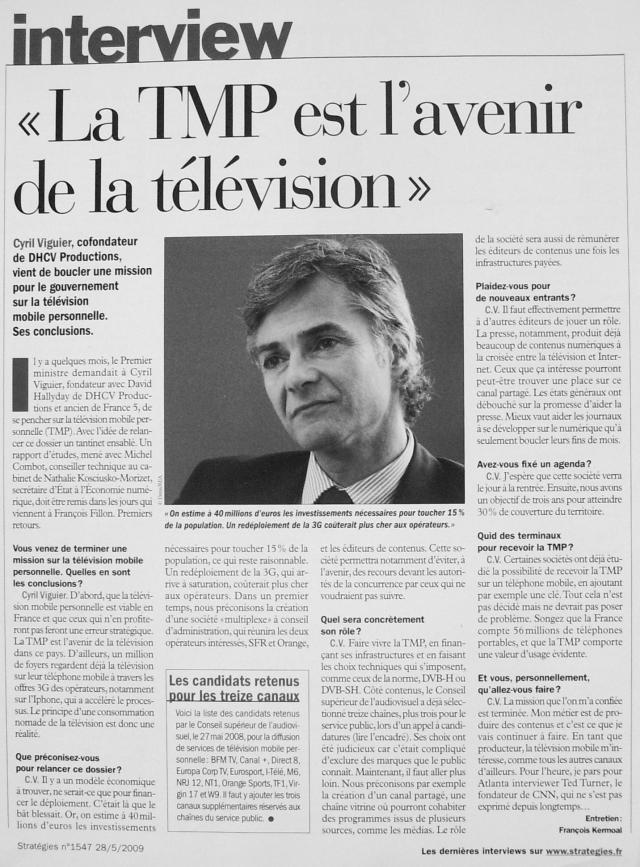 Source : Article « La TMP est l'avenir de la télévision », extrait de la revue Stratégies, n° 1547, 28 mai 2009.