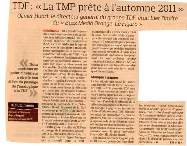 La TMP prête à l'automne 2011