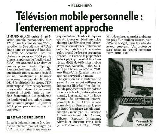 Télévision mobile personnelle : L'enterrement approche