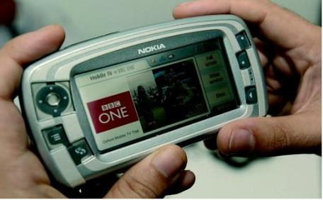 Utilisation de la Télévision mobile personnelle sur le smartphone Nokia 7710.