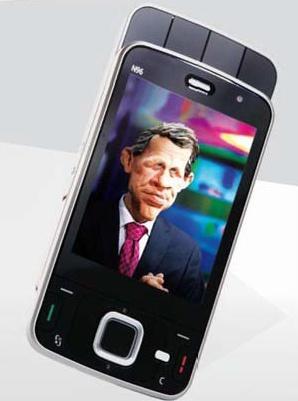 Utilisation de la Télévision mobile personnelle sur le smartphone Nokia N96.