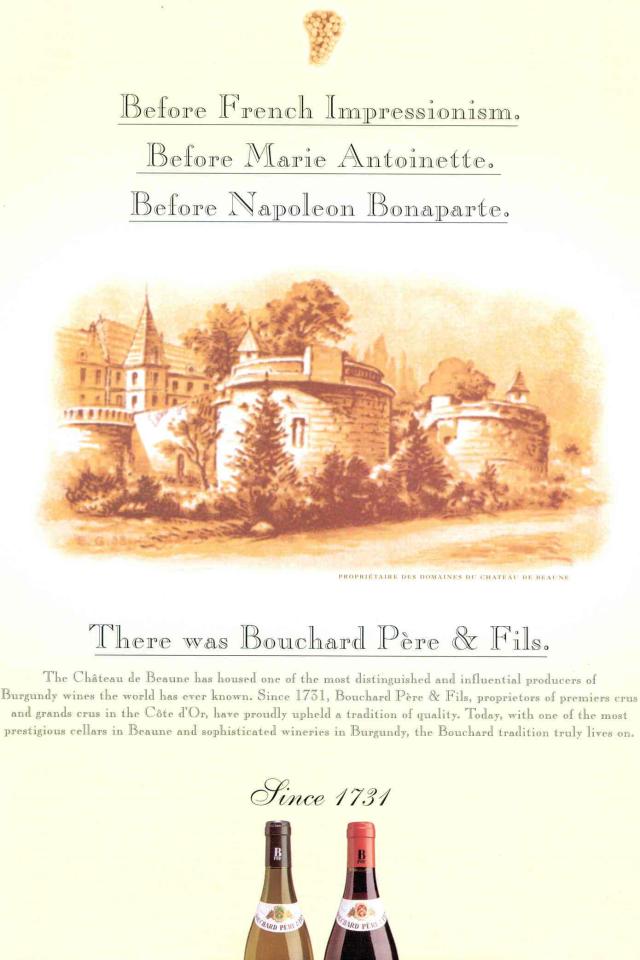 Napoléon et le vin Bouchard Père & Fils