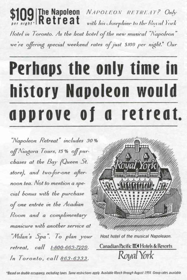Napoléon et l'hôtel Royal York