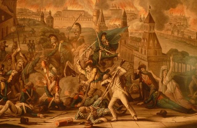 L'incendie de Moscou le 15 septembre 1812