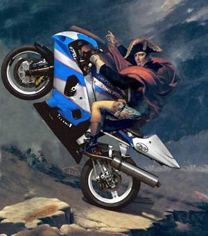 Napoléon et moto