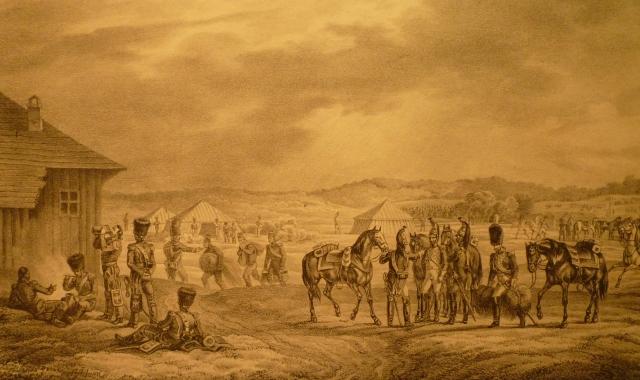 Bivouac de l'Empereur en avant de Witepsk le 28 juillet 1812