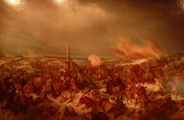 L'armée française traversant la Berezina