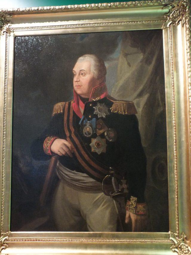Le prince russe Mikhail Koutouzov, général en chef de l'armée impériale russe du tsar Alexandre Ier