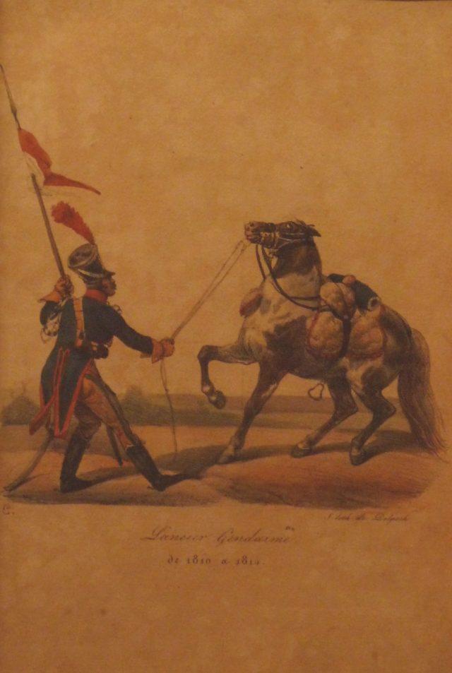 Lancier gendarme en Espagne en 1812
