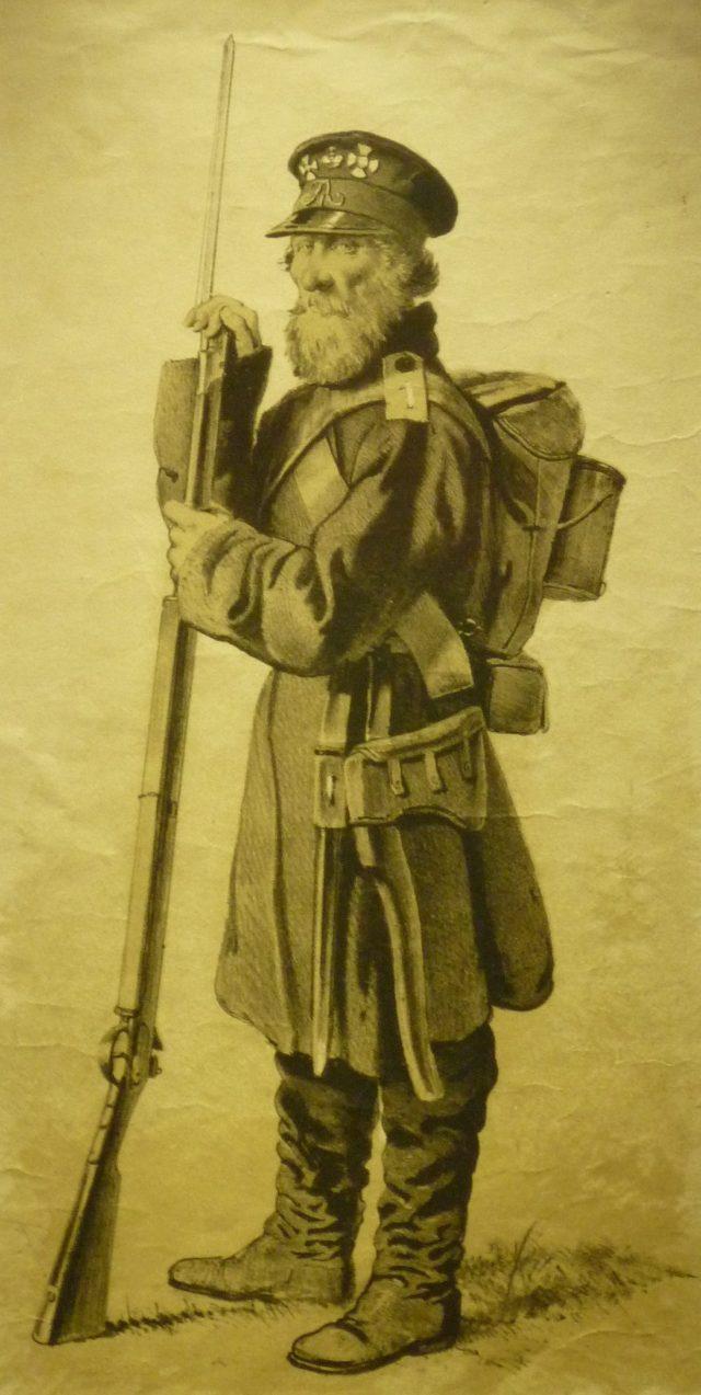 Matveyef, guisarmier de la milice du gouvernement de Saint-Pétersbourg