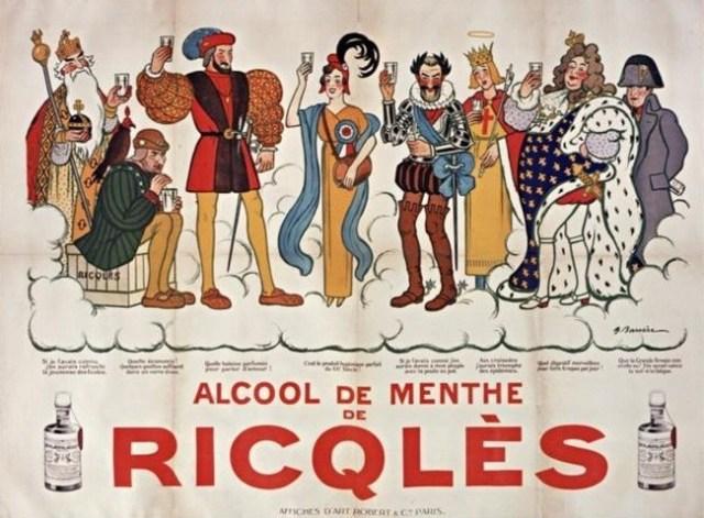 Napoléon et l'alcool de menthe Ricqlès